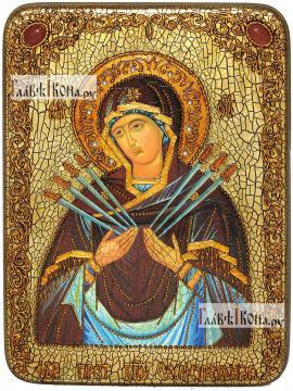Семистрельная Божия Матерь, аналойная икона подарочная