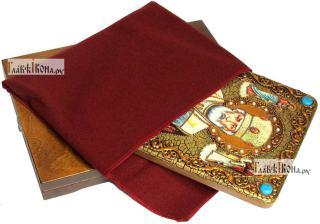 Николай Чудотворец (в митре), аналойная икона подарочная - вид с упаковкой