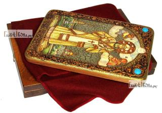 Тихон Задонский, святитель, аналойная икона подарочная - вид с упаковкой