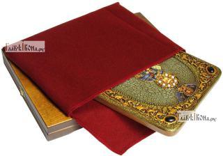Иоанн Воин, мученик, аналойная икона подарочная - вид с упаковкой
