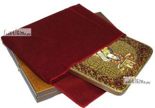 Никита Столпник, преподобный, аналойная икона подарочная - вид с упаковкой
