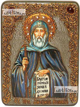 Антоний Великий, преподобный, аналойная икона подарочная