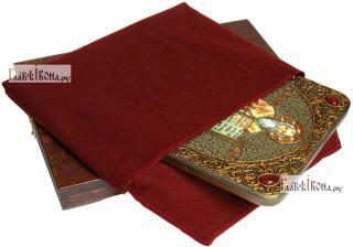 Мефодий Равноапостольный, аналойная икона подарочная - вид с упаковкой