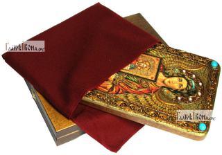 Ангел Хранитель (с образом Господа), аналойная икона подарочная - вид с упаковкой