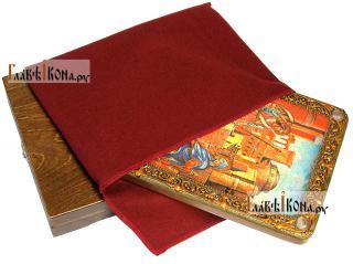 Благовещение Пресвятой Богородицы, аналойная икона подарочная - вид с упаковкой