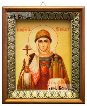 Ольга равноапостольная, икона на холсте в киоте-рамке