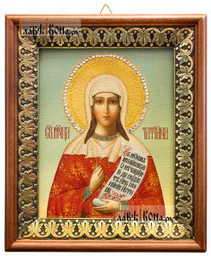 Татьяна мученица, икона на холсте в киоте-рамке