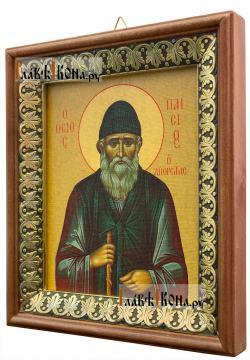 Паисий Святогорец, икона на холсте в киоте-рамке - вид сбоку