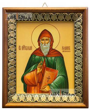 Иоанн Лествичник, икона на холсте в киоте-рамке