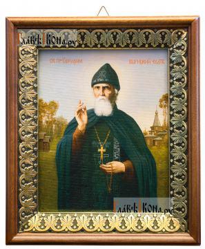 Серафим Вырицкий,, икона на холсте в киоте-рамке