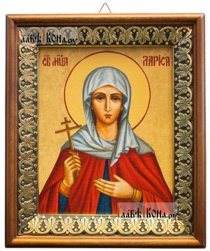 Мученица Лариса Готфская, икона на холсте в киоте-рамке