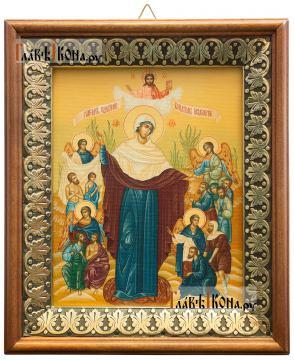 Всех Скорбящих радость, икона на холсте в киоте-рамке
