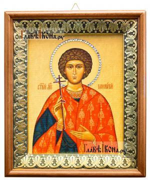 Вонифатий (Тарсийский, Римский), икона на холсте в киоте-рамке