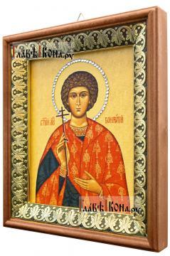 Вонифатий (Тарсийский, Римский), икона на холсте в киоте-рамке - вид сбоку