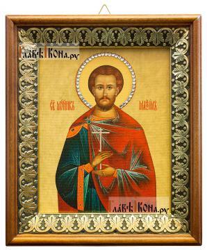 Максим Антиохийский, икона на холсте в киоте-рамке