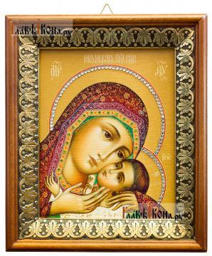 Корсунская Божия Матерь, икона на холсте в киоте-рамке