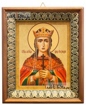 Александра царица, икона на холсте в киоте-рамке