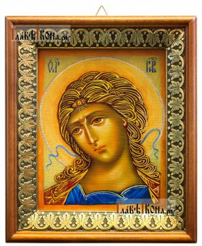 Златы власы (Архангел Гавриил), икона на холсте в киоте-рамке
