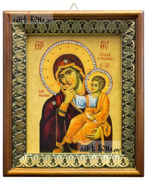 Отрада и Утешение Божия Матерь, икона на холсте в киоте-рамке