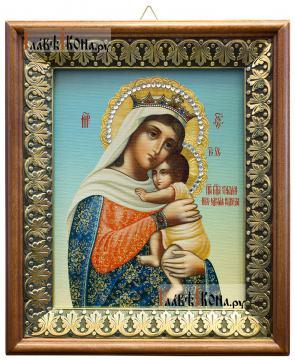 Отчаянных Единая Надежда Божия Матерь, икона на холсте в киоте-рамке