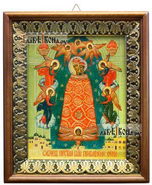 Прибавление Ума Божия Матерь, икона на холсте в киоте-рамке