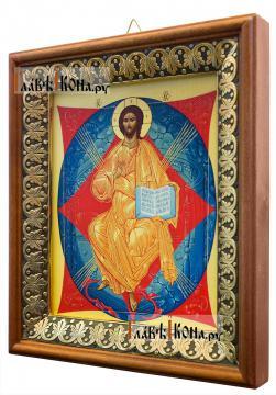 Спас в Силах, икона на холсте в киоте-рамке - вид сбоку