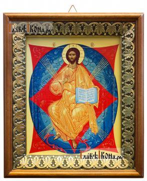 Спас в Силах, икона на холсте в киоте-рамке