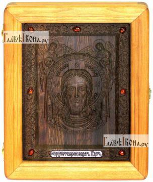 Резная икона Спаса Нерукотворного, артикул 22012
