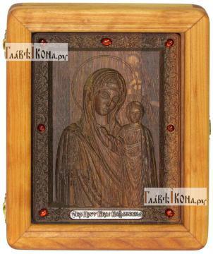 Резная икона Казанской Божией Матери, артикул 22021