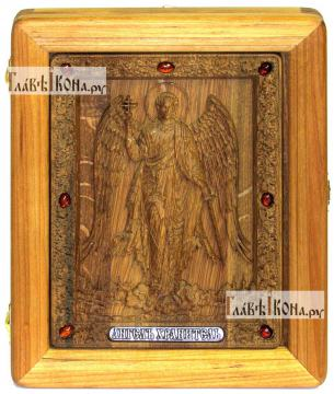 Резная икона Ангела Хранителя, артикул 22090