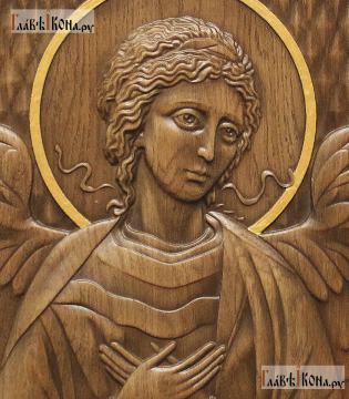 Резная икона Ангела Хранителя, артикул 22302 - детали Образа