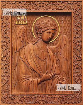 Резная икона Михаила архангела, артикул 22311