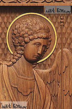 Резная икона Михаила архангела, артикул 22311 - детали Образа