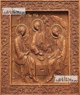 Резная икона Троицы Пресвятой, артикул 22311