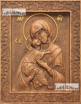 Резная икона Владимирской Божией Матери, артикул 22204