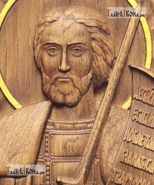Резная икона Александра Невского, артикул 22301 - детали Образа