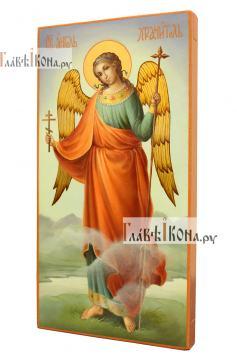 Икона Ангела Хранителя (ростовое изображение), маслом, артикул 712 - вид сбоку