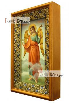 Икона Ангела Хранителя (ростовое изображение), маслом, артикул 712 - вид в киоте сбоку