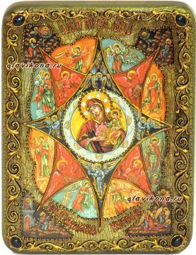 """Божия Матерь """"Неопалимая купина"""" икона подарочная 15х20 см"""