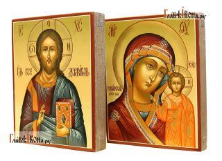 Венчальная пара с Казанской, артикул 351 - вид икон сбоку