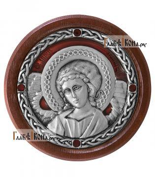 Икона-медальон в машину с образом Ангела Хранителя, артикул 13230 - цвет красный