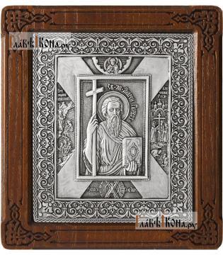Апостол Андрей Первозванный - икона серебряная артикул 11234