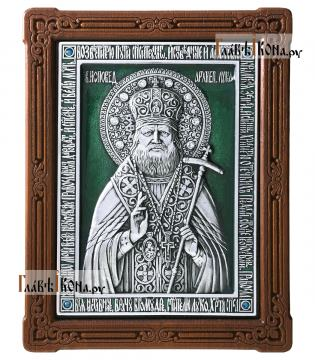 Иверская Божия Матерь, серебряная икона с эмалью и стразами
