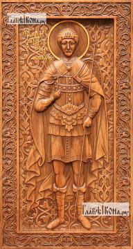 Димитрий Солунский - резная икона, артикул 25034-02