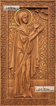 Анна Пророчица, мать пророка Самуила - резная икона, артикул 25039-01