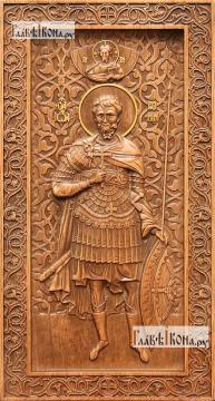 Иоанн Воин - резная икона, артикул 25049-01