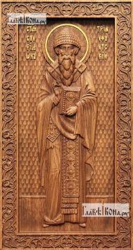 Спиридон Тримифунский - резная икона, артикул 25056-01
