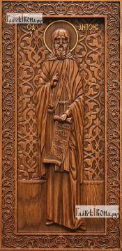 Антоний Великий - резная икона, артикул 25064-01