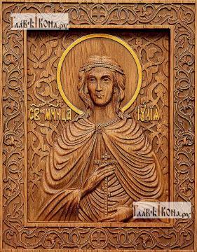 Иулия (Юлия) Карфагенская - фотография резной иконы, артикул 25073-01