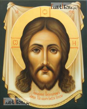 Спас Нерукотворный, писаная икона в живописном стиле, артикул 601